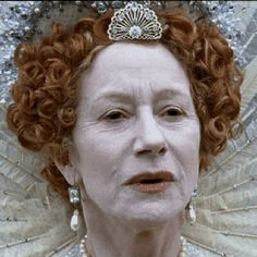 """Own Swarovski crystal and pearl earrings that are replicas of those worn by Helen Mirren as Elizabeth in """"Elizabeth I"""". Further Product Info: http://www.theanneboleynfiles.com/products-page/elizabeth-i-categories/elizabeth-octagon-crystal-earrings/#ixzz2mMwZKAEc"""