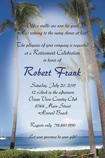 Retirement - Invitations and Announcements beach