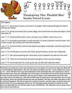 Thanksgiving Sunday School Lesson Ten Lepers.jpg 1,019×1,319 pixels