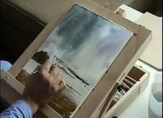 Painting a Seascape in Water color part 1 - Video Lessons of Drawing & Painting