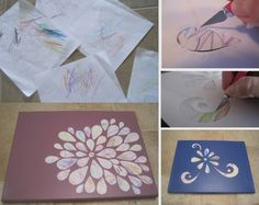 Here's a very clever idea.  Turn your toddler scribble into an instant work of art!  Makes great gifts for the family too!  Get the tutorial now.