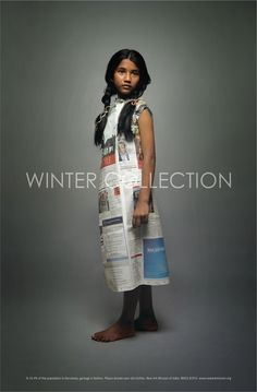 """Poignant Posters: Winter Collection """"New Ark mission of India dressed up poor street kids in their everyday clothes than photographed them"""""""