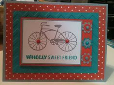 ---Cycle Celebration----- cycl celebr, 20132014 annual, colors, bicycl, stampin, card creation, annual catalog, sun, friend