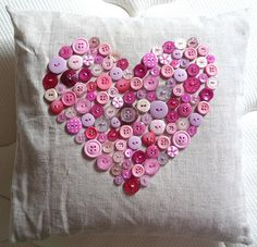 DIY buttons heart
