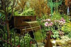 Piano Garden, Philadelphia, Pennsylvania photo via thefan - this would be such an amazing tribute to my father