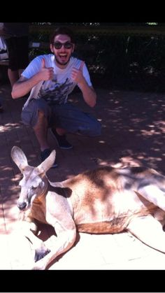 """Blake Harrison """"Oooh kangaroo friend!"""""""