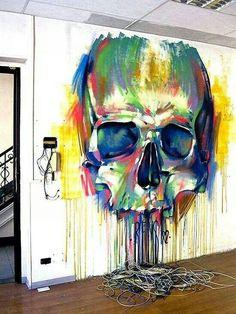 "Emanuele ""Rems 182"" Ronco #streetart #skull"