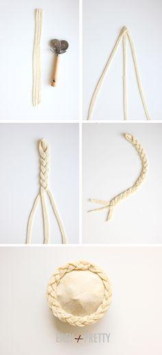 DIY braided pie crust
