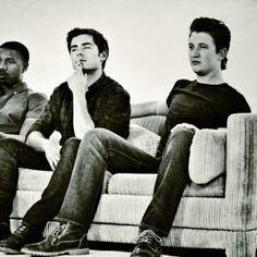 Zac and his castmates from That Awkward Moment, Miles and MBJ  Zac Efron on WhoSay - Photos, videos, bio and more