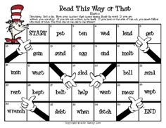 A fun way to practice reading words based on a given phonics skill with Dr. Seuss theme. In this set of games, students practice reading short ...