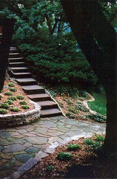 walkway and retaining wall
