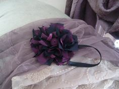 purple/black headband made by Elegant Kreations