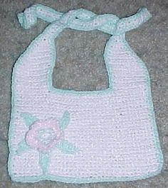 FLOWER Baby BIB Crochet Pattern - Free Crochet Pattern Courtesy of Crochetnmore.com