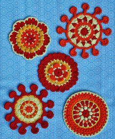 SPOKE & PICOT MOTIFS  crochet pattern pdf by CAROcreated on Etsy, €4.00