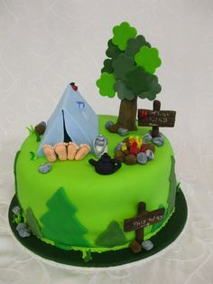 Jackinaboxcakes Camping cake