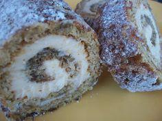 Banana Roll with Cinnamon Cream Cheese Filling.