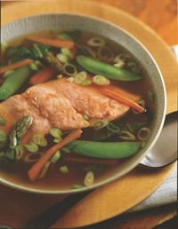 Miso Soup With Asparagus And Broiled Salmon - Healthy Recipe Finder | Prevention