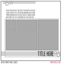 scrapbooking sketch @ shimelle.com - for when you have a vertical and horizontal photo