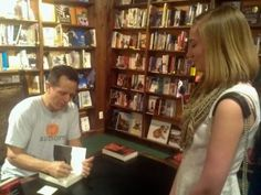 Book Signing Stories - Inspirational Share from www.WhatDoEbookAuthorsSign.com  Now, THIS is how it's done. :-)   Hugh Howey met his fans, talked with them, enjoyed meeting them, then signed a memorable and meaningful inscription. The inscription and experience were meaningful enough to inspire a fan to blog about it with a giant smile. Yeah. THAT's how it's done. :-) You da man, Hugh Howey!
