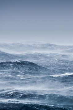 the hoarse whisper of rough seas