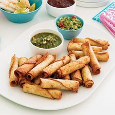 15 Hearty Chicken Appetizers  | Bean and Chicken Taquitos | MyRecipes.com
