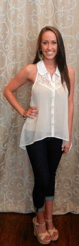 Collar Me Beautiful blouse! Perfect with a sweater or shrug.  https://www.facebook.com/apricotlanezonarosa