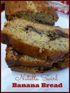 #Nutella Swirl Banana Bread // Ms. Toody Goo Shoes