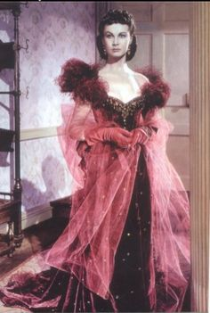 Scarlett's Red Dress  Vivian Leigh  in Gone with the Wind