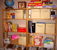 Organizing Our Homeschool Area - Heart at Home : Heart of Wisdom
