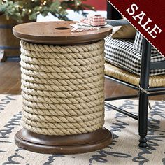 Spool Side Table, on sale for $187
