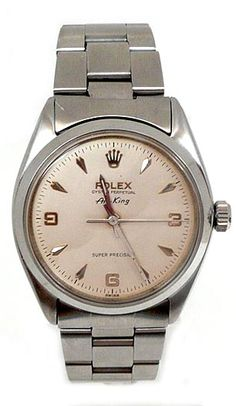 LOVE!  ROLEX OYSTER PERPETUAL AIR-KING STANILESS STEEL AND ROLEX BRACELET AND BOX 1962