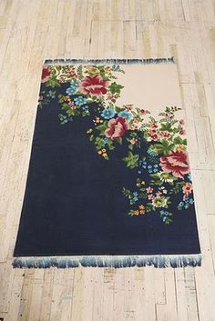 Navy floral rug.  Urban Outfitters