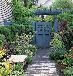 Spruce-blue garden gate