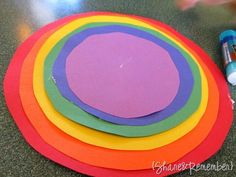 rainbow crafts, graphic organizers, rainbow circl, color wheels, rainbow colors, preschool crafts, craft ideas, kid crafts, toddler activities