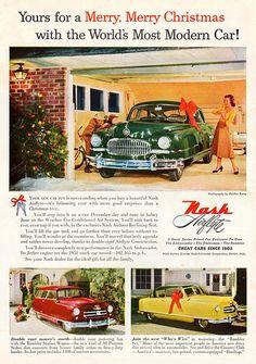 1951 Nash Ambassador Custom 4-Door Sedan, Rambler station wagon and hardtop.