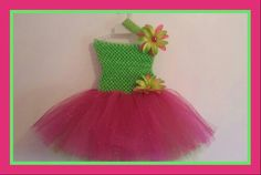Hot pink and lime gren tutu. https://www.facebook.com/pages/Natalies-Tutique/540713519315118