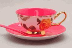 Pink Satin Cup & Saucer