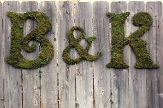 moss covered letters from Katie Marie