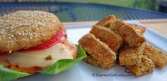 Gourmet Girl Cooks: Southwestern Style Grilled Chicken Sandwiches & Oven Baked Zucchini Fries