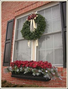 Wreath and Window Box