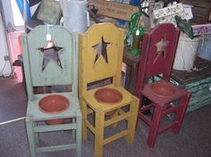 Flower Pot Chairs. Great gift idea!!