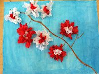 crayon, mothers day, art lessons, flower art, spring art