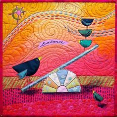 'Bird Brained Balance' by Linden Lancaster | Latitude Quilts