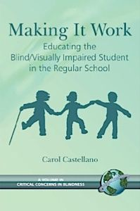 "Bringing Blindness Awareness to the Sighted Classroom: This article by Carol Castellano gives tips on how to teach sighted children about blindness. She explains that ""blindness simulations"" where kids don blindfolds may not be a good idea: ""What are the goals of such exercises? Sighted students will probably have trouble performing tasks under blindfold that they are accustomed to doing with their eyesight. Is the goal to show them how hard it is to be blind?"""