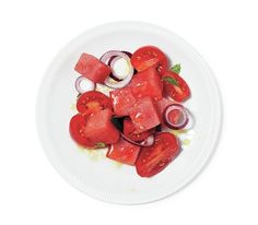 Marinated Watermelon and Tomato Salad