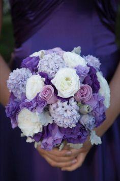 Purple wedding  flowers.