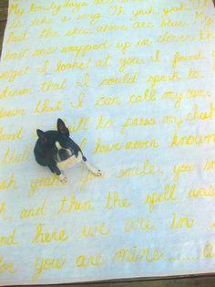 LOVE this idea...sentimental rugs.