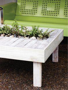 coffee tables, backyard project, backyard diy patio, plant patio, diy backyard, plant tabl, patio tables, garden, pallet tables