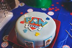 Paw Patrol Pawty!! Actually, this would be easier for the top layer sides!