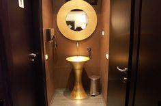 Restaurant bathroom...so goldy!